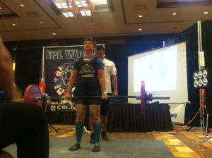 My winning deadlift. 292.11 pounds.